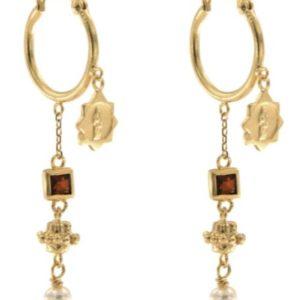 Jeanne Earrings With Garnet 2